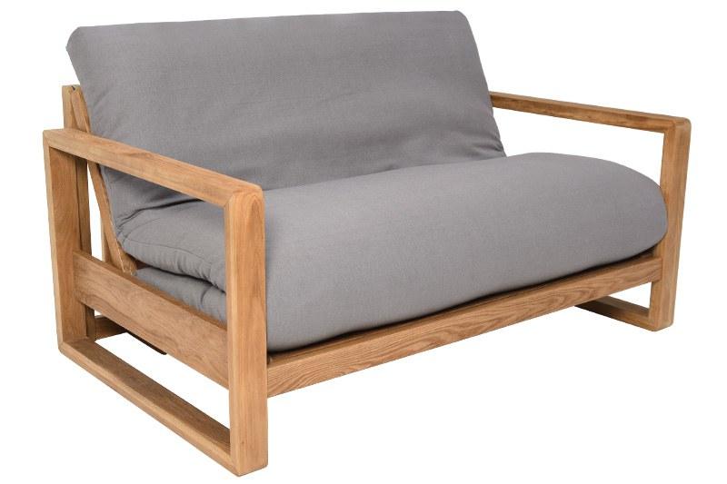 2 Seater Oak Wood Sofa Bed Futon Company