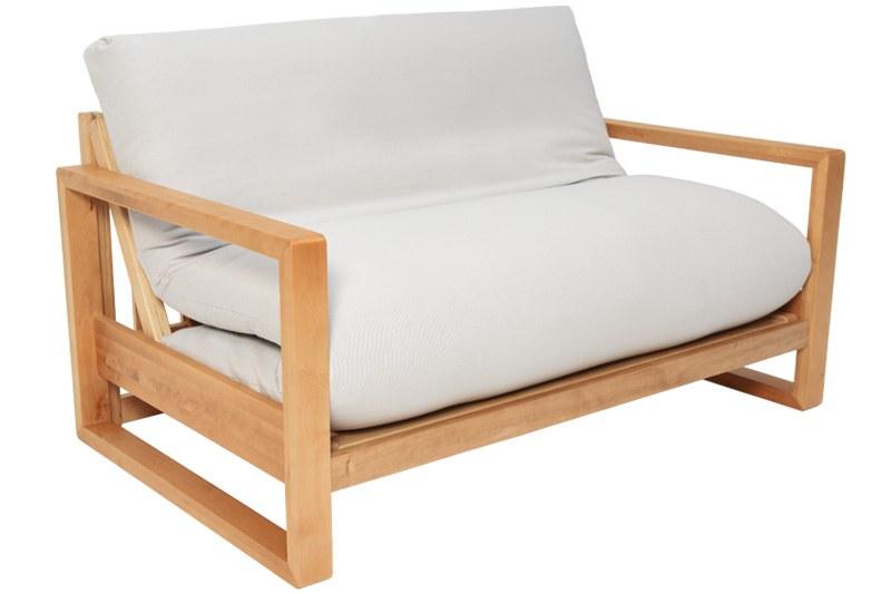 cuba 2 seater     2 seater birch wood sofa bed   futon  pany  rh   futon pany co uk