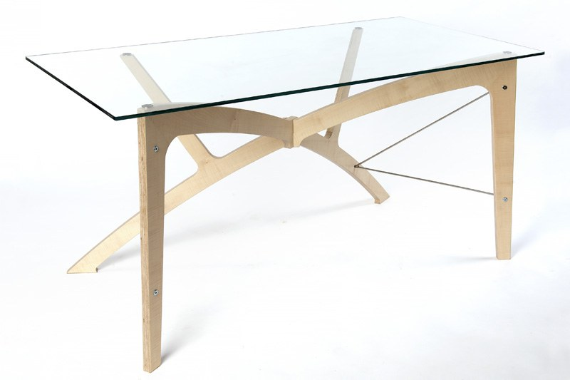 Ripple Ash Veneer Office Desk Futon Company