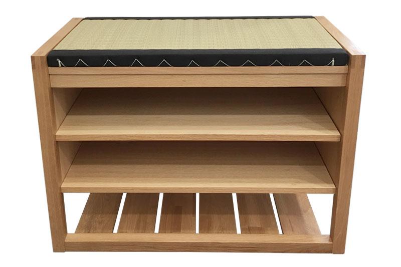 Hallway Bench Part - 17: Oak Hallway Bench With Tatami Mat ...