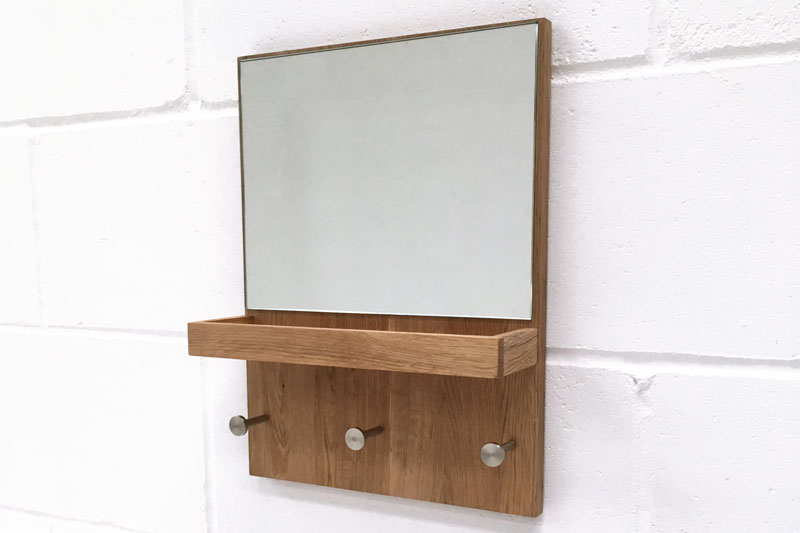 Hallway Mirror With Key Tray And Coat Hooks Futon Company