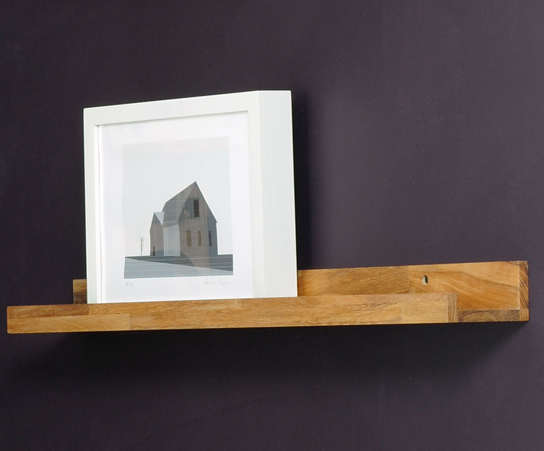 Small Wooden Picture Rail 40cm In Oak Futon Company