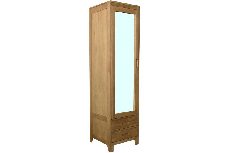 Narrow Oak Wardrobe For Small Spaces Futon Company