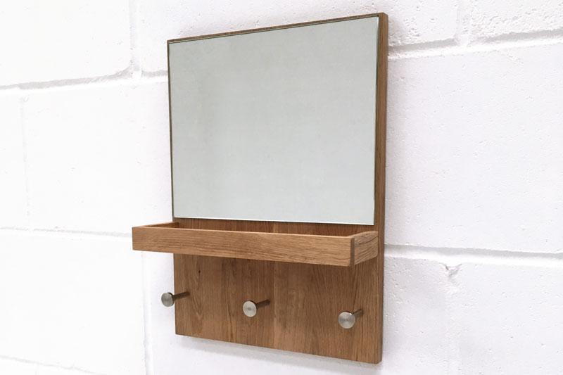 Hallway Mirror With Key Tray And Coat Hooks Futon Company