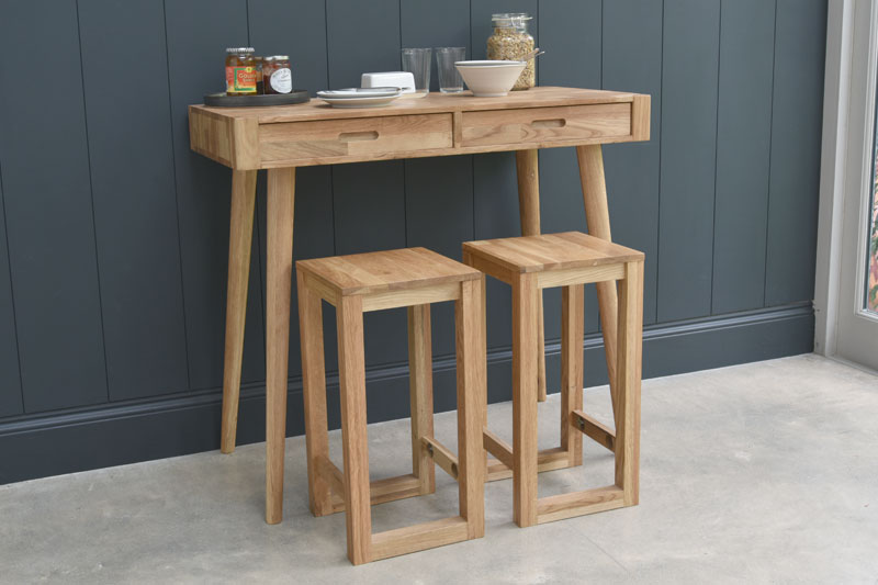 Breakfast Bar Table With Drawers Futon Company