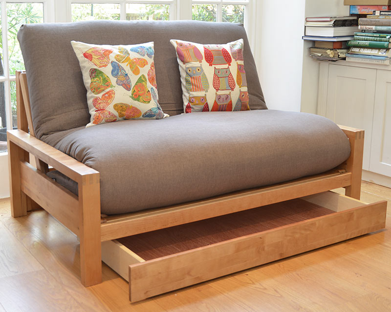 Narrower under bed drawer for 2 seater futon company - Sofa modelo london ...
