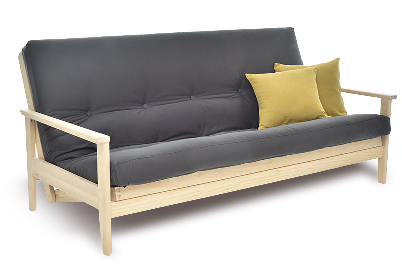 3 Seater Solid Pine Sofa Bed Futon Company
