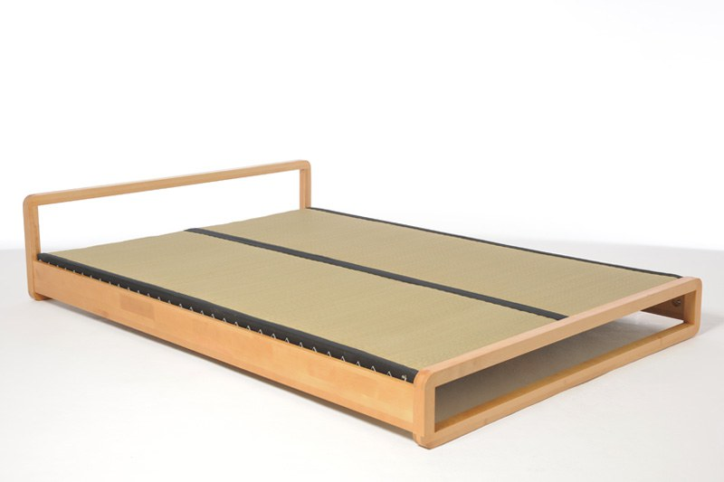 Low Wooden Double Bed in Solid Birch | Futon Company