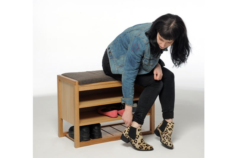 Hallway Bench And Shoe Store In Oak Futon Company