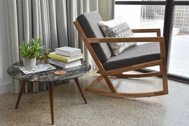 Contemporary Oak Rocking Chair Futon Company