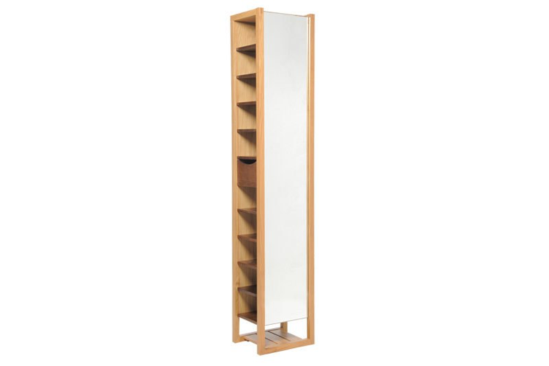Mirrored Shoe Storage Tower Futon Company