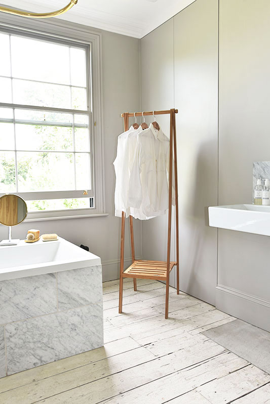 Narrow Bamboo Folding Wardrobe Futon Company