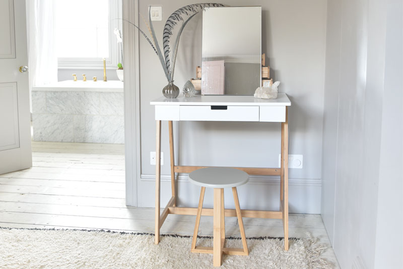 Mini Dressing Table In White Mdf Futon Company
