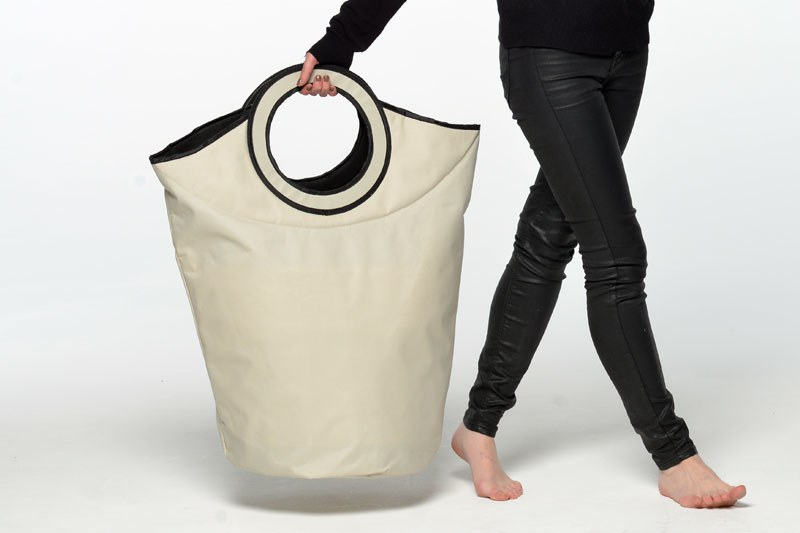 Famous Free Standing Fabric Laundry Bag in Canvas | Futon Company LM43