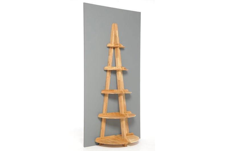 5 Corner Shelves In Oak Futon Company