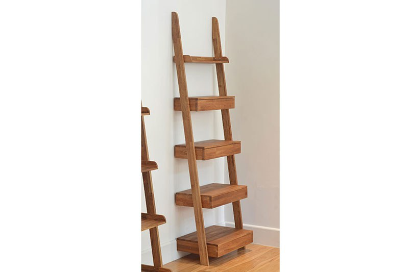 Leaning Ladder Shelves In Oak Futon Company