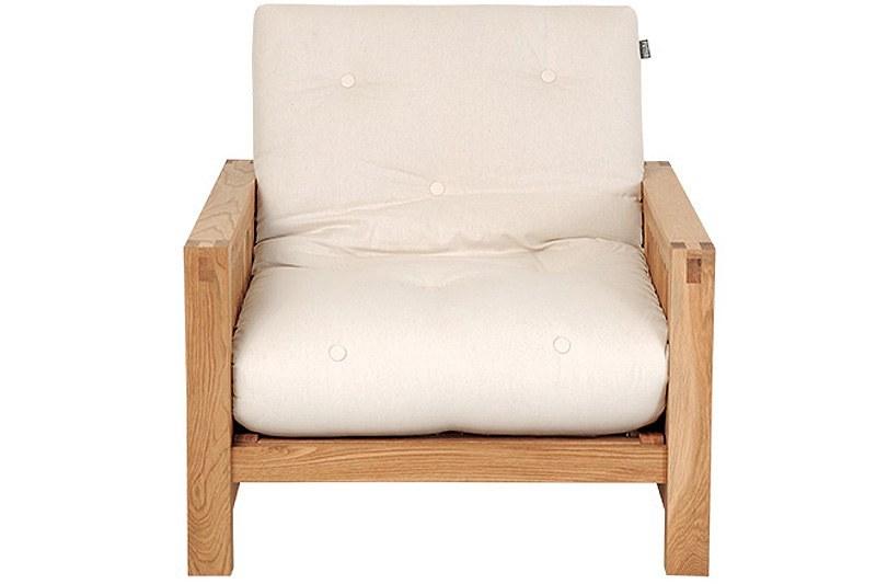 Single Seater Oak wood Sofa Bed Futon Company