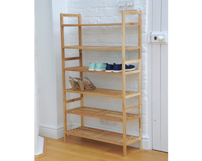 Stackable Shoe Rack In Walnut Futon Company