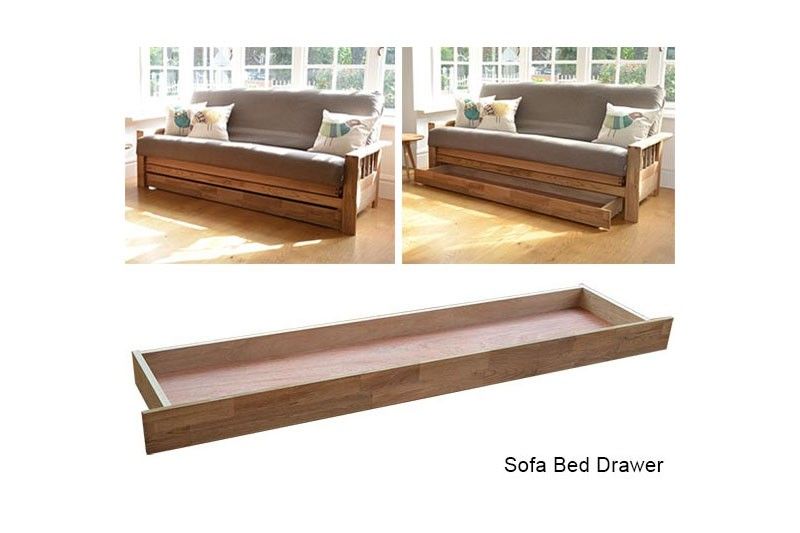 3 Seater Sofa Bed In Solid Oak Futon Company