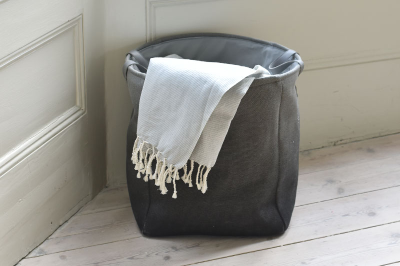 Ombre Storage Basket With Handle Futon Company
