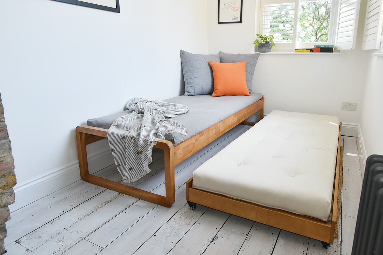 Solid Birch Trundle Bed Futon Company