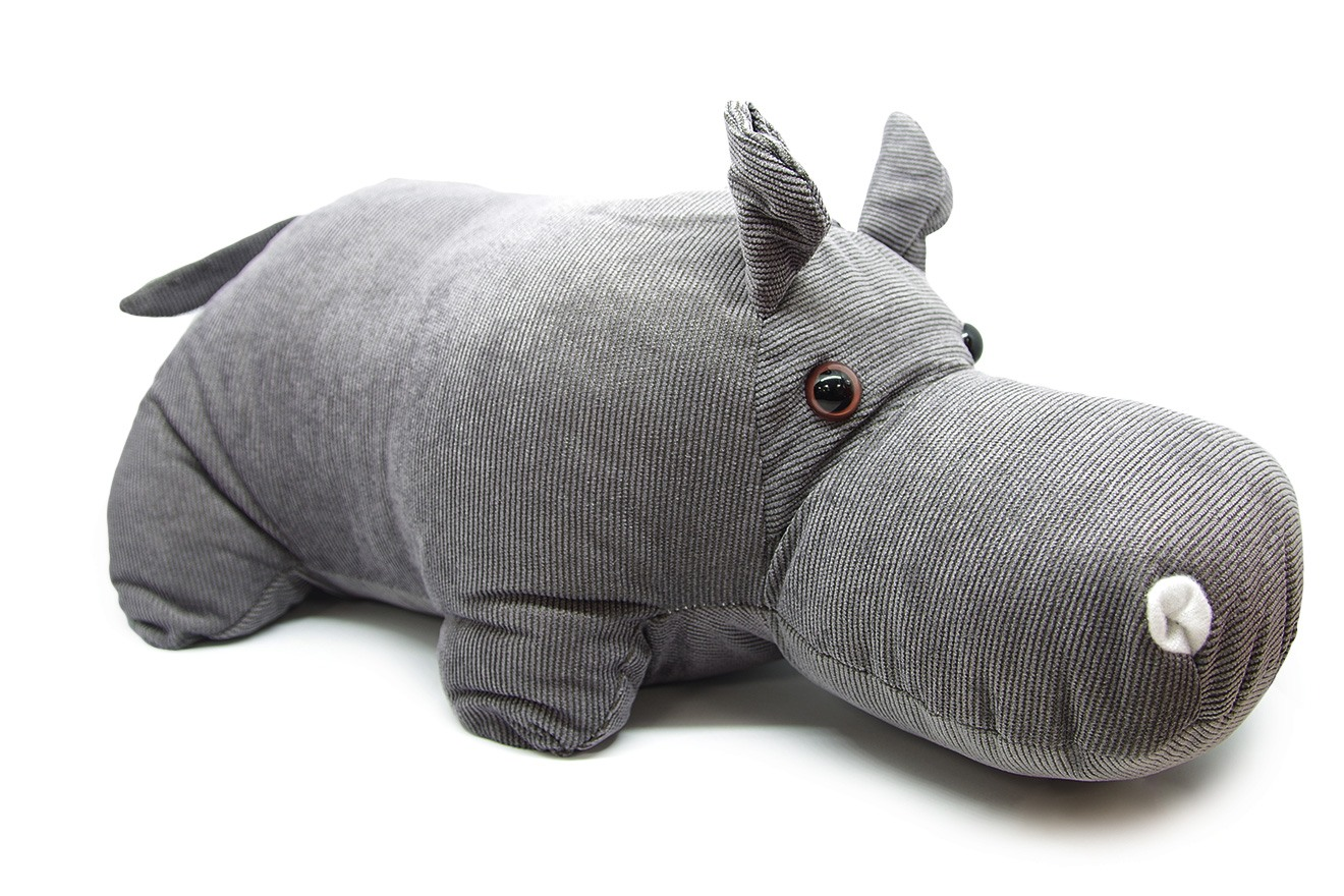 Hippo Micro Corded Fabric Door Stop Futon Company