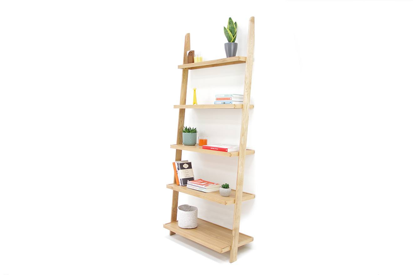 innovative design 21e3b 83bab Oak Wide Leaning Ladder Shelves