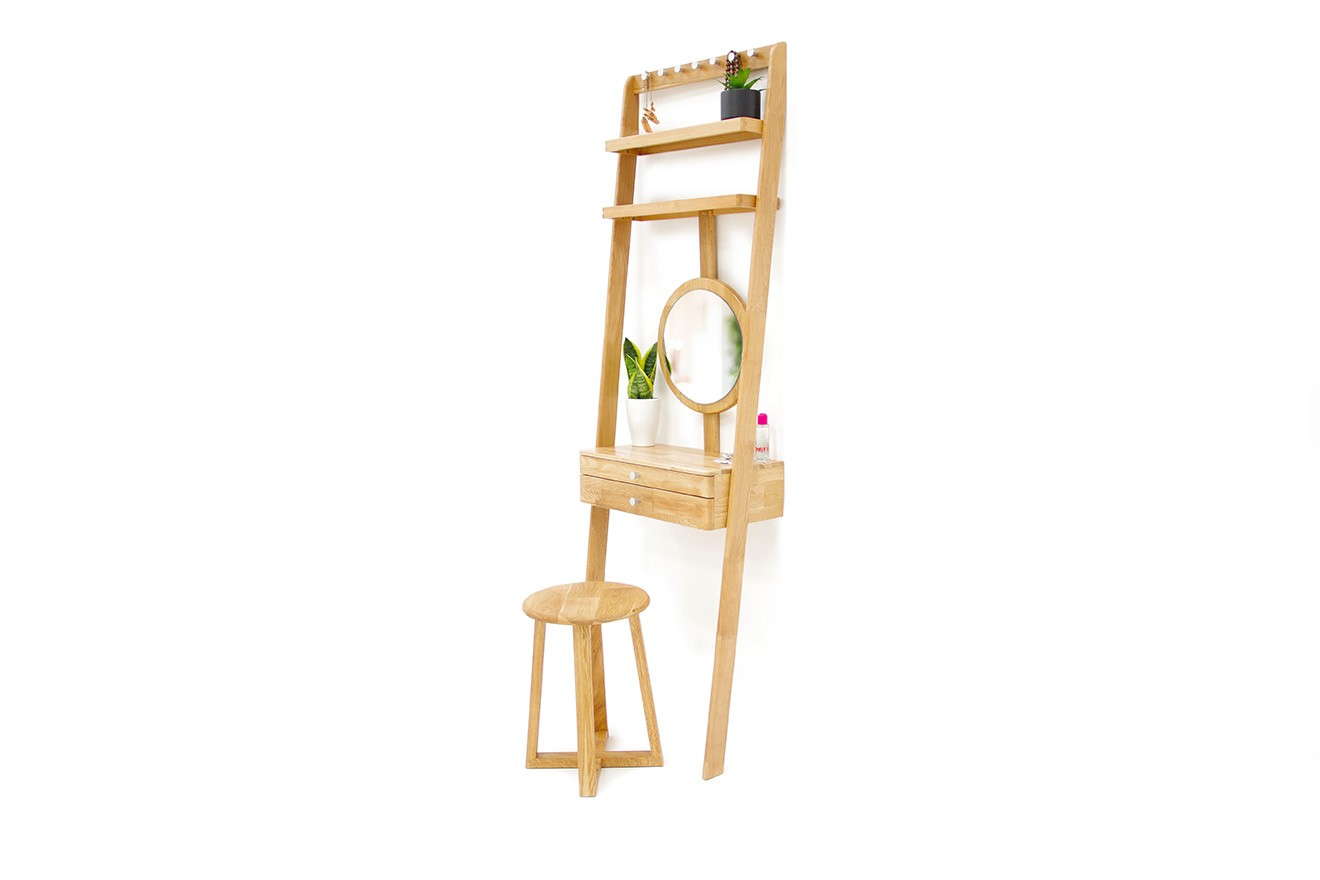 low priced 0ef30 8fa7c Oak Leaning Ladder Mini Dressing Table