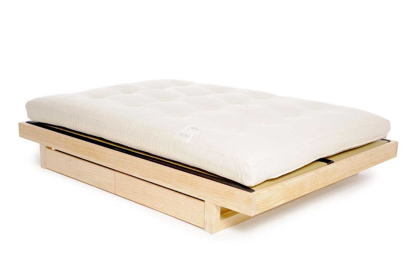 Low Japanese Style Kingsize Storage Bed Futon Company