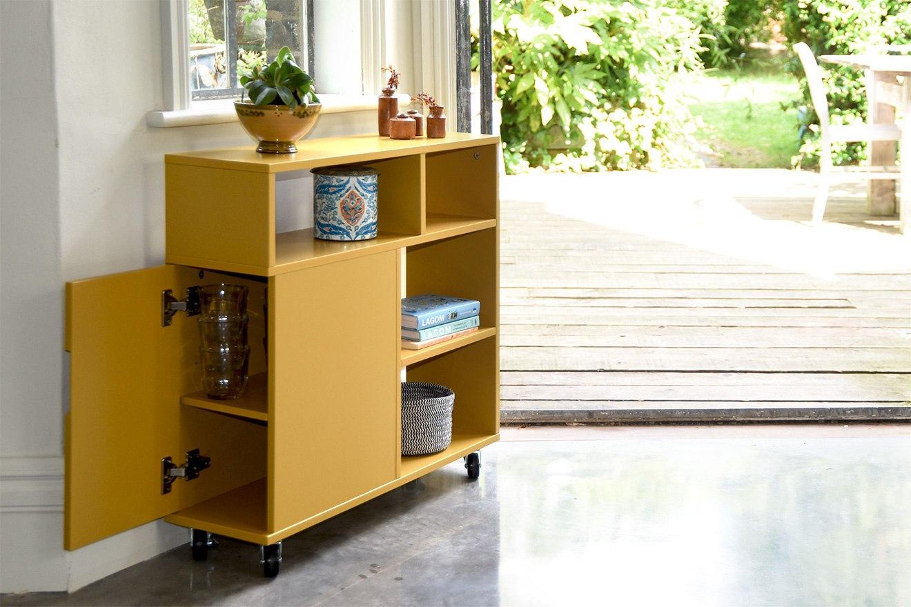 Tokyo Slim Cabinet Storage Sofa Side Unit Futon Company