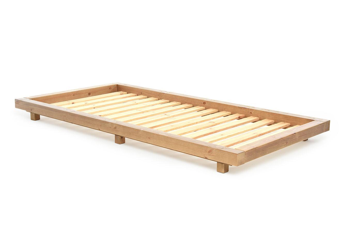 Low Platform Bed Elm Finish Single Size Futon Company