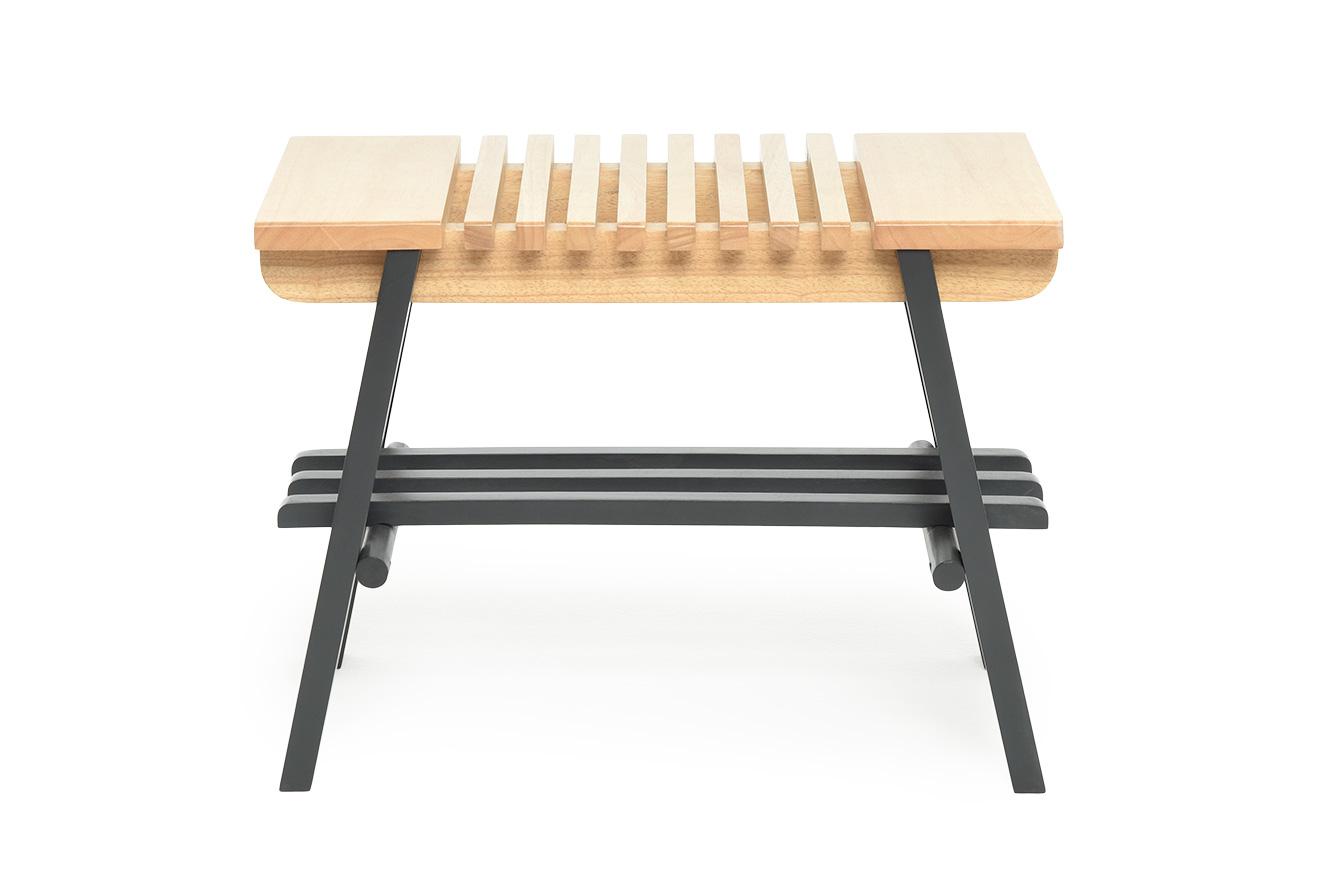 Edo Rubberwood And Pine Slatted Bench Futon Company