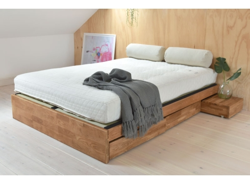 Oak Platform Storage bed