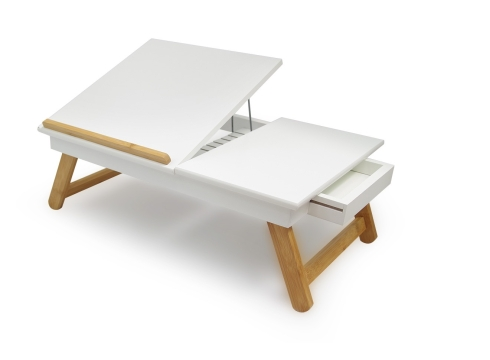Laptop table in White