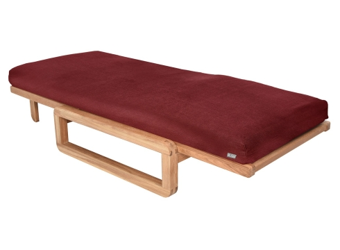 Authentic Single Futon With Cover Handloom Burgundy