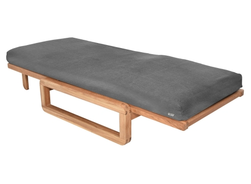 Authentic Single Futon With Cover Handloom Charcoal