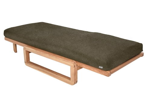 Comfort Single Futon With Cover Chequers Salt and Pepper