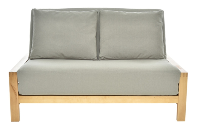 Example of 3 panel futon front view