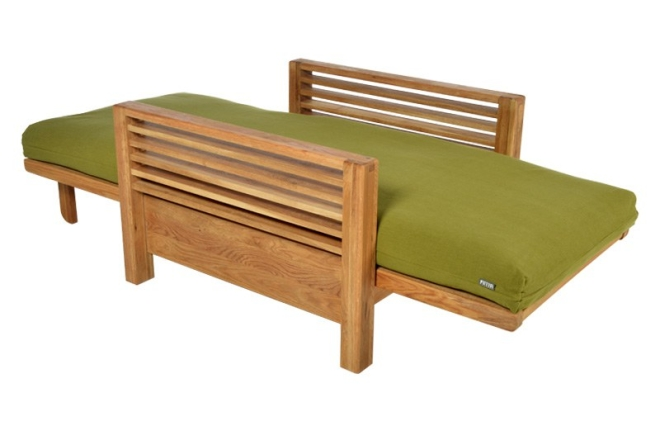 Horizon Single Oak Sofabed As Bed