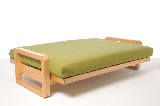 Loop Bifold With Green Handloom Cover As Bed