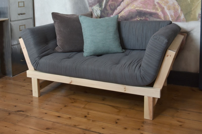 Cute Sofa Bed In Pine Futon Company