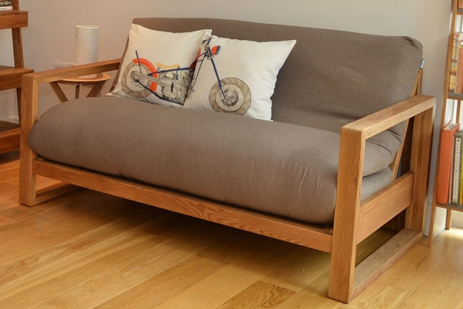 Cuba 2 Seater Oak Sofa Bed 4