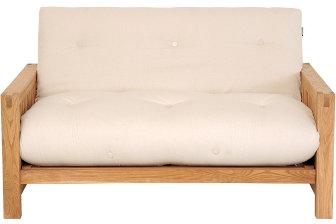Oke - 2 Seater Solid Oak Sofa Bed
