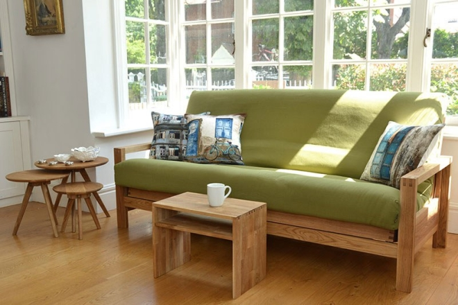 Quad 3 Seater Oak Sofa Bed 10