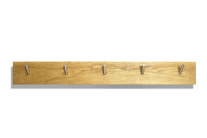 Oak Letter Storage Hook Rail front