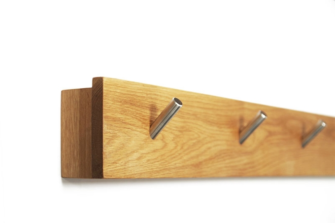 Oak Letter Storage Hook Rail side