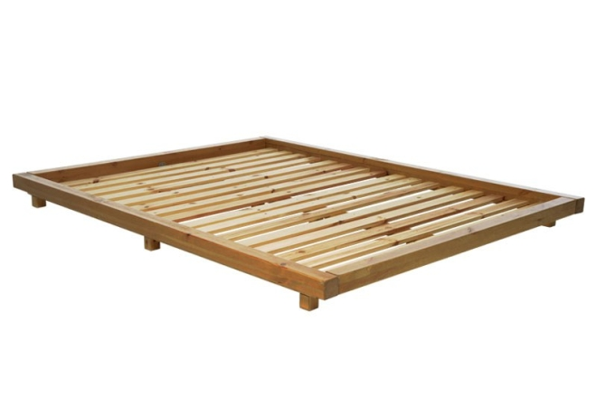 Platform Bed Pine With Elm Stain Frame Only