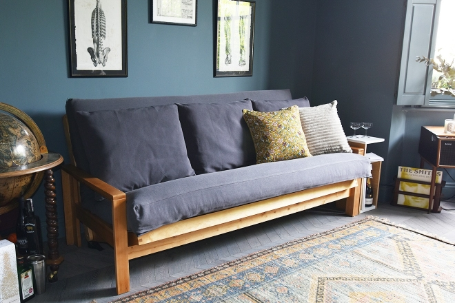 3 Seater Sofa Bed Solid Birch Wood Futon Company