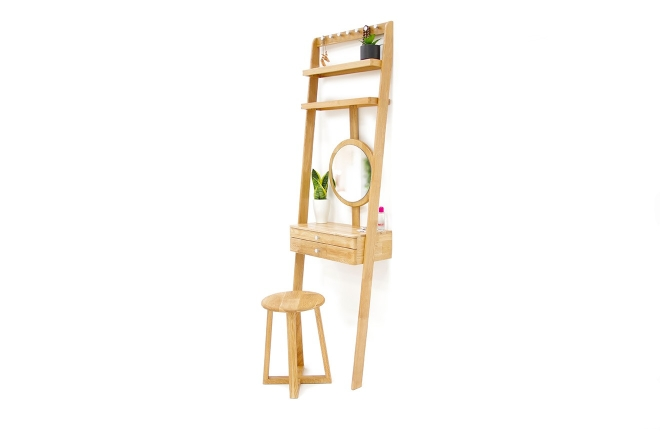 Oak Leaning Ladder Mini Dressing Table