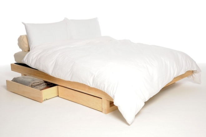 Mirage Bed Dressed With Drawers